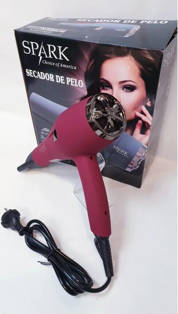 secador spark s-221hd con difusor pelo rizado 2200w barato