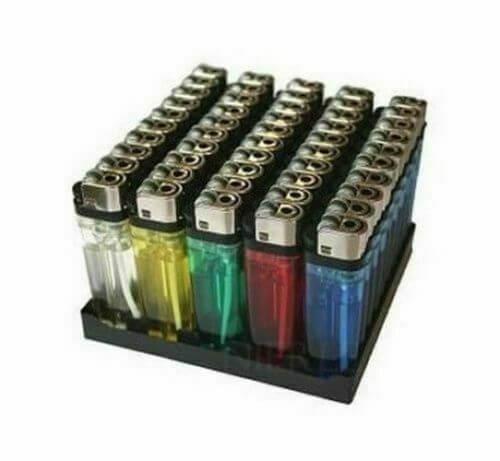 Pack de 50 mecheros desechables de colores con rueda encendedor barato