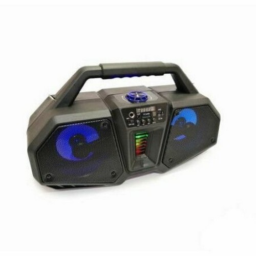 Altavoz Bluetooth con función karaoke ZQS-4216 Radio Usb micro SD Aux Bateria Luces disco