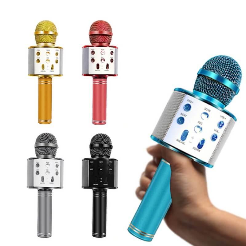 MICRÓFONO INALÁMBRICO WS-858 Bluetooth micrófono de mano Karaoke micro USB