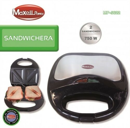 SANDWICHERA ELECTRICA 750W Diseño ANTIADHERENTE Corte Diagonal MP-5622