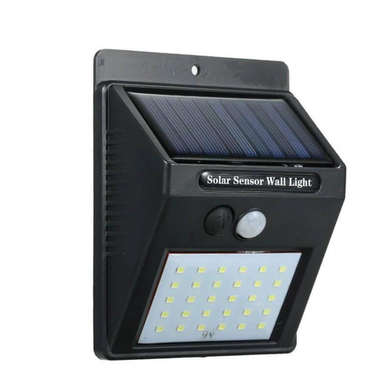 foco solar led de pared con sensor de movimiento