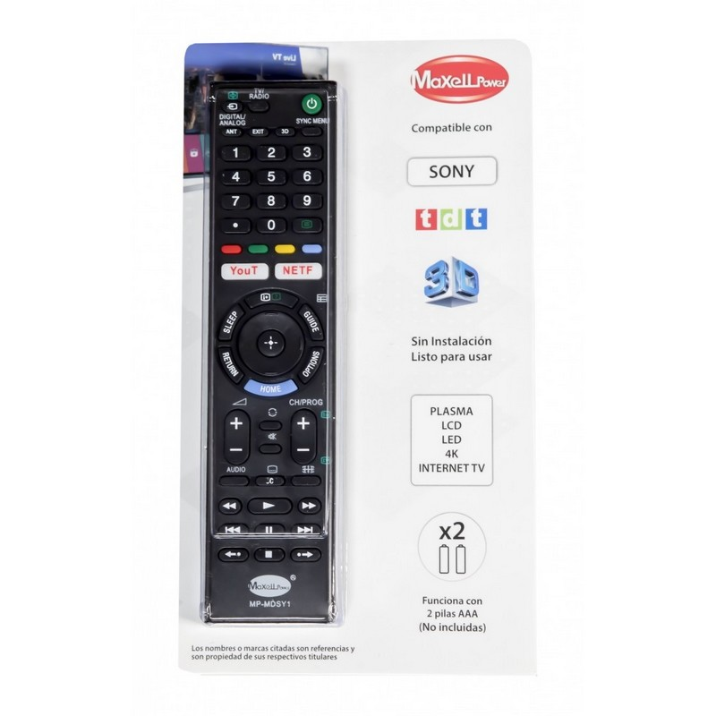 mando universal compatible con tv sony plasma lcd led 4k internet tv - 1