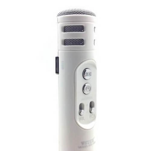 microfono wster ws-1698 blanco detalle