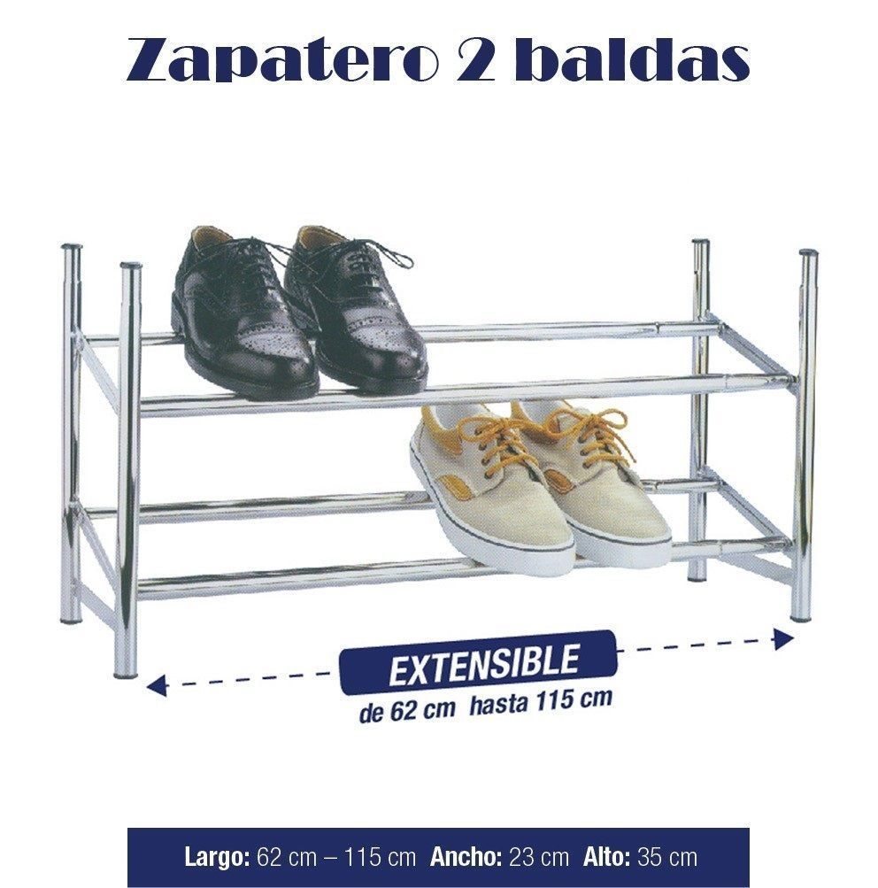 zapatero metalico extensible 12 pares 2 alturas