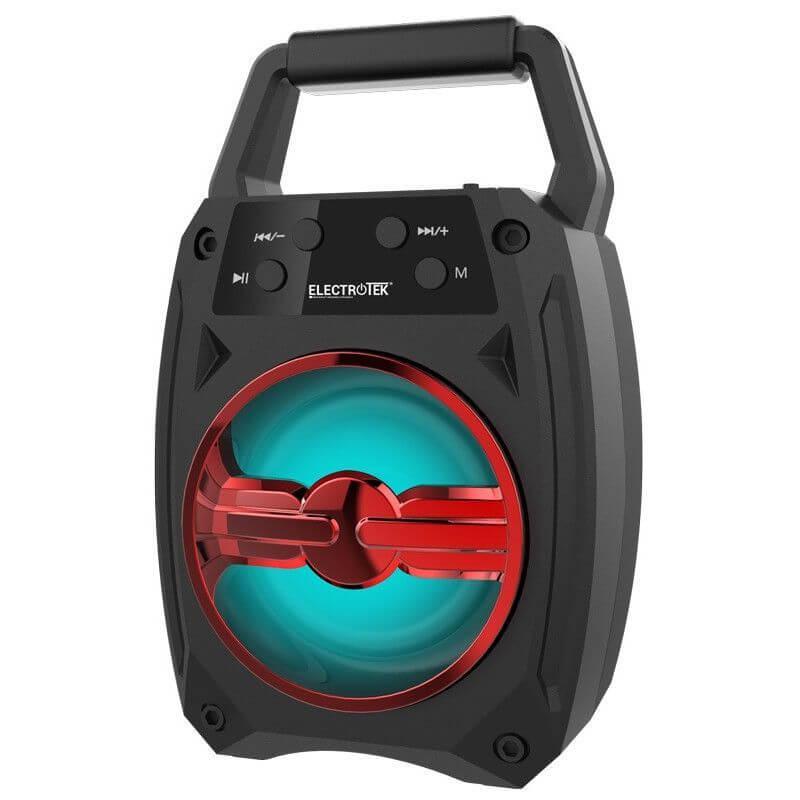 altavoz portatil bluetooth 42edr 5w electrotek et ps100 rojo