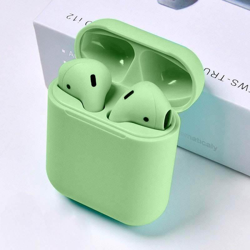 auriculares i12 tws colores verde ipods bluetooth